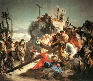Post 3-8 Giovanni Battista Tiepolo - Christ Carrying the Cross