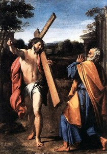 Domine Quo Vadis, by Annibale Carracci (1560-1609)