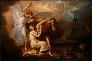 Вигнання прабатьків із Раю, Benjamin West, 1791.