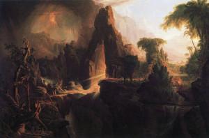Вигнання прабатьків із Раю, Thomas Cole, 1828