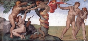 Гріхопадіння Адама і Єви, Sistine Chapel by Michelangelo