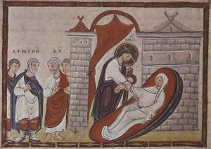 Воскресіння дочки Іаїра, Codex Egberti, l025