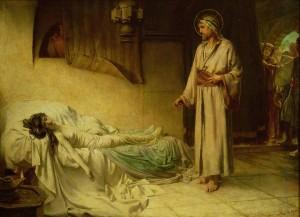 Воскресіння дочки Іаїра, George Percy Jacomb-Hood, 1885