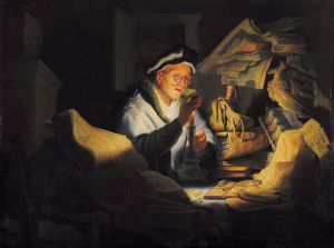 Притча про нерозумного багача, Rembrandt, 1627.