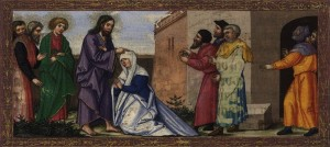 Зцілення скорченої, Matthias Gerung c. 1530