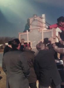 Встановлення хреста на 1000-ліття хрещення