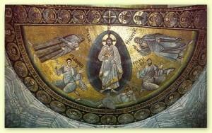Мозаїка Преображення. Монастир св. Катерини, Синай, 565-6