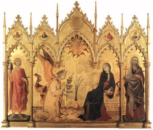 Благовіщення, Simone Martini and Lippo Memmi, 1333