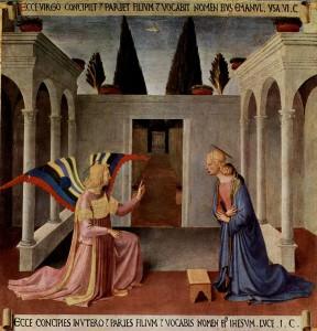 Благовіщення, Fra Angelico, 1450