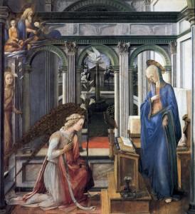 Благовіщення, Filippo Lippi, 1443