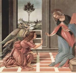 Благовіщення, Botticelli, 1490