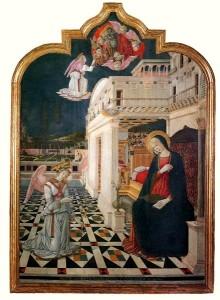 Благовіщення, Benvenuto di Giovanni, 1470