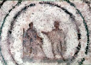 Благовіщення, катакомби Присцилли, Рим, 2-ге століття
