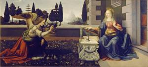 Благовіщення, Leonardo da Vinci