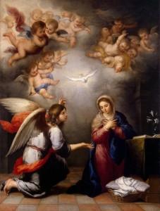 Благовіщення, Murillo, 1655