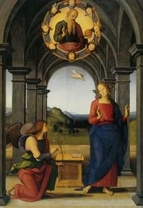 Благовіщення, Pietro Perugino, 1489