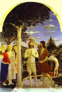 Хрещення Ісуса Христа, Piero della Francesca, 1445