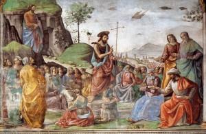 Проповідь Іоана Хрестителя, фреска Cappella Tornabuoni, Santa Maria Novella, Florence, 1486-90