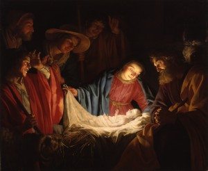 Поклоніння пастухів, Gerard van Honthorst