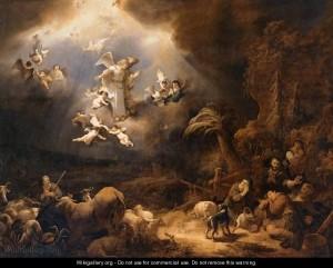 Ангели сповіщають пастухам про народження Христа, Govert Teunisz