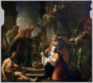 Стрітення, Andrea Celesti, 1710