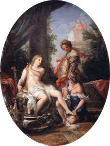 Вірсавія париймає ванну, by Carlo Maratta