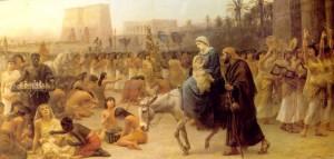 Anno Domini, Edwin Long, 1883, зображено прибуття Святої Родини до Єгипту