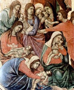Оплакування Віфлеємських немовлят, Duccio, di Buoninsegna, 1319