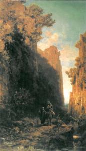 Втеча до Єгипту, Carl Spitzweg, 1875-9