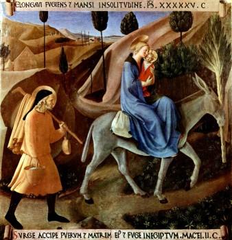 Втеча до Єгипту, Fra Angelico, 1450