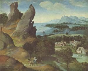 Втеча до Єгипту, Joachim Patinir, 1510s