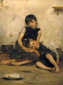 Сироти, Thomas Kennington, 1885