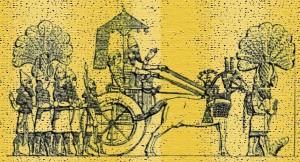 Асирійський цар на колісниці