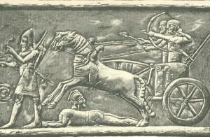 Асирійська колісниця в бою