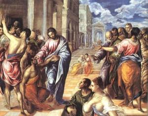 Зцілення сліпого, El-Greco, 1578