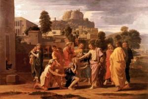 Зцілення сліпого Вартимея, Nicolas Poussin 1593 – 1665
