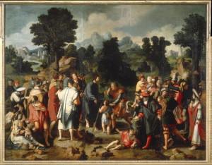 Pent 31-5 Зцілення сліпого Вартимея, Lucas van Leyden 1494 – 1533