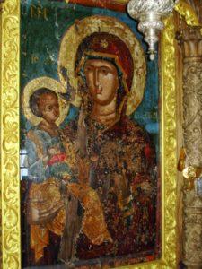 Ікона Богородиці, що слугувала наверненню Марії Єгипетської. Зараз на горі Афон