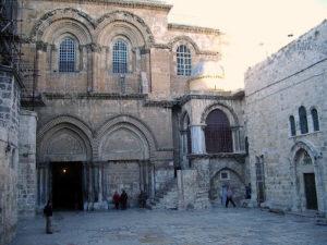 На цьому місці відбулося навернення Марії Єгипетської. Сходи вели до гори Голгофи де і був хрест Спасителя